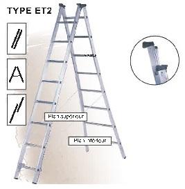 Двухсекционная лестница-стремянка Centaure ET2 (2х12)