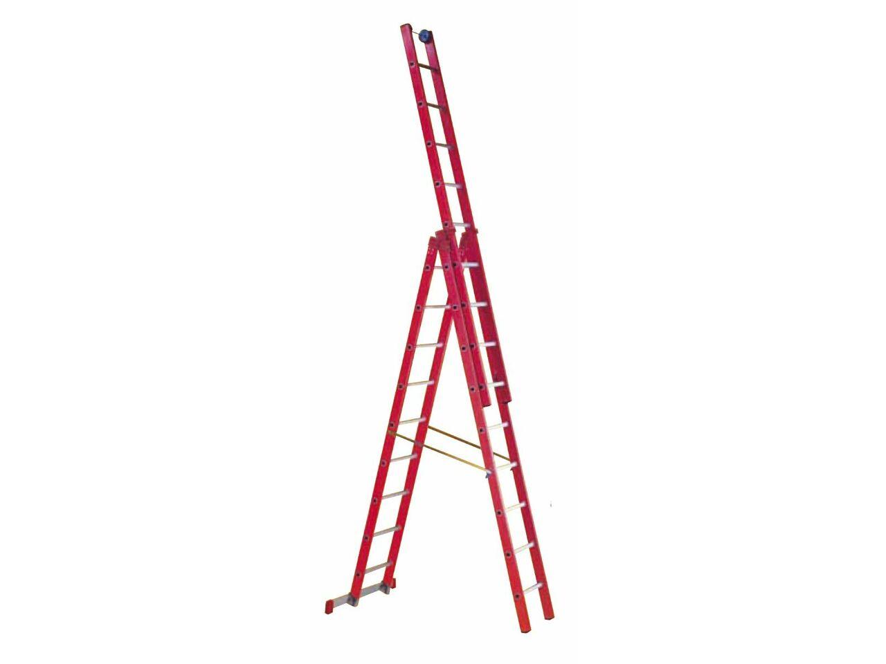 Лестница-стремянка диэлектрическая трехсекционная Faraone SV250/3