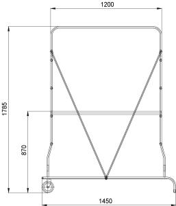 Подмость стальная P 225 ST 1,79 м