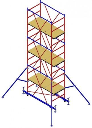 "Вышка-тура ""МЕГА 1М"", Н=6,3м (без стабилизаторов)"