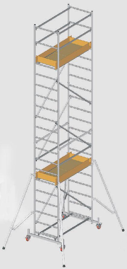 Вышка-тура алюминиевая Svelt Millenium 4,98 м