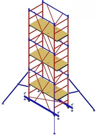 "Вышка-тура ""МЕГА 2М"", Н=10,8м (без стабилизаторов)"