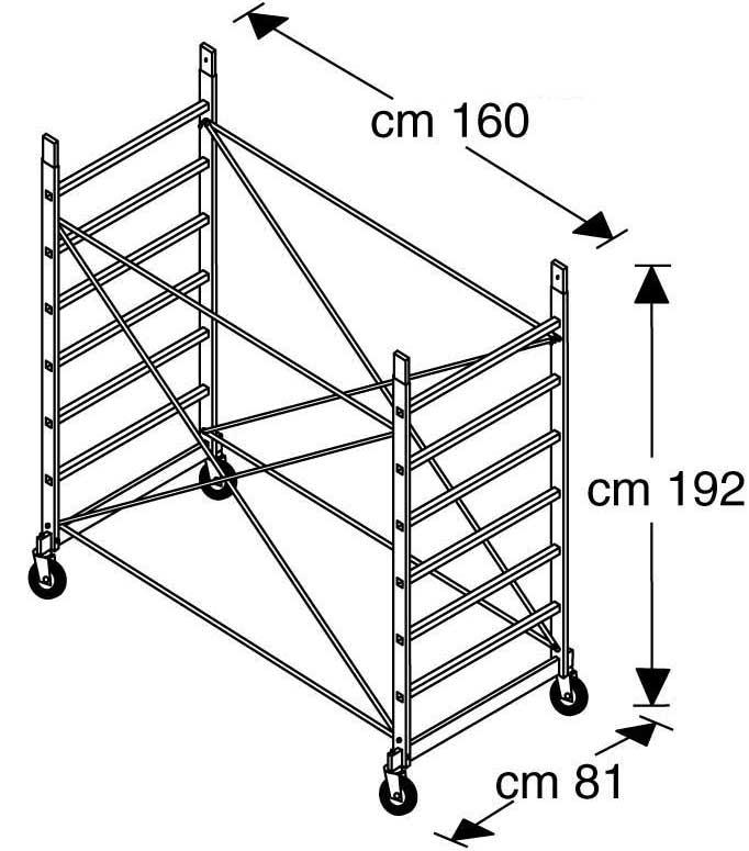 Базовый модуль вышки-туры FARAONE RAPIDO 160 (артикул 161)