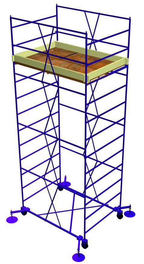 Вышка-тура УЛТ-120КР Н=11,0 м