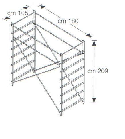 Верхнее ограждение (2 м) вышки-туры FARAONE RAPIDO 180 (артикул 183)