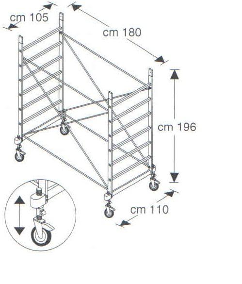 Базовый модуль вышки-туры FARAONE RAPIDO 180 (артикул 181)