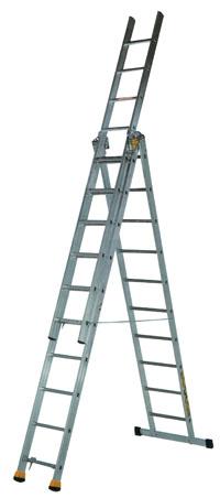 Трехсекционная алюминиевая лестница-стремянка Centaure AT3x8