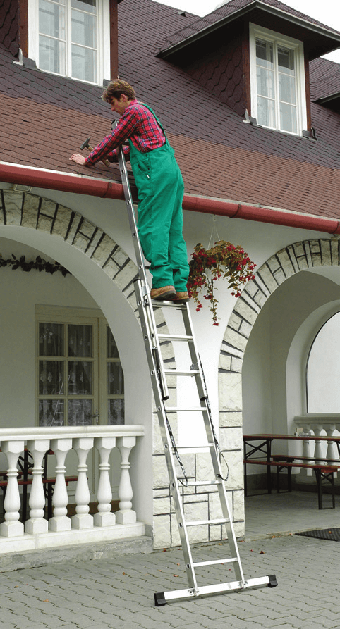 Двухсекционная алюминиевая лестница-стремянка ELKOP VHR 2x15 PK