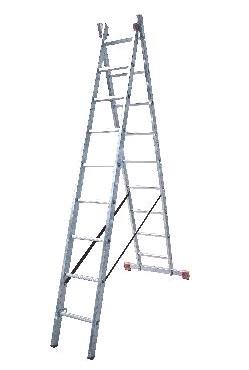 Лестница двухсекционная универсальная LWI 2х10
