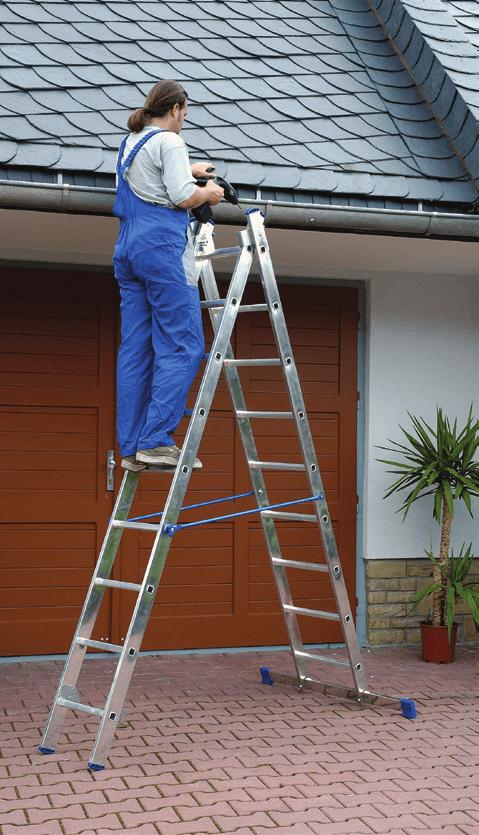 Двухсекционная алюминиевая лестница-стремянка ELKOP VHR 2x8 HK