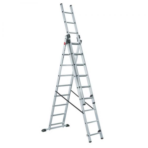 Лестница трехсекционная универсальная LWI 3х6