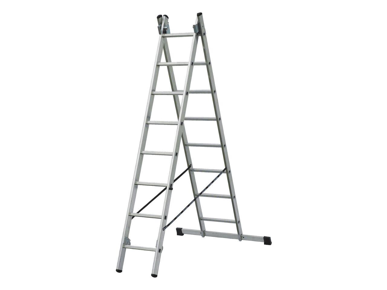 Двухсекционная алюминиевая лестница-стремянка ELKOP VHR 2x19 PK