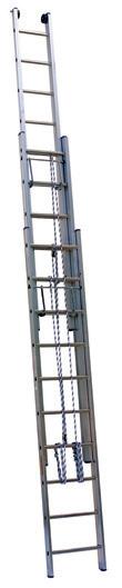 Лестница выдвижная алюминиевая трехсекционная Centaure PEC 3х13