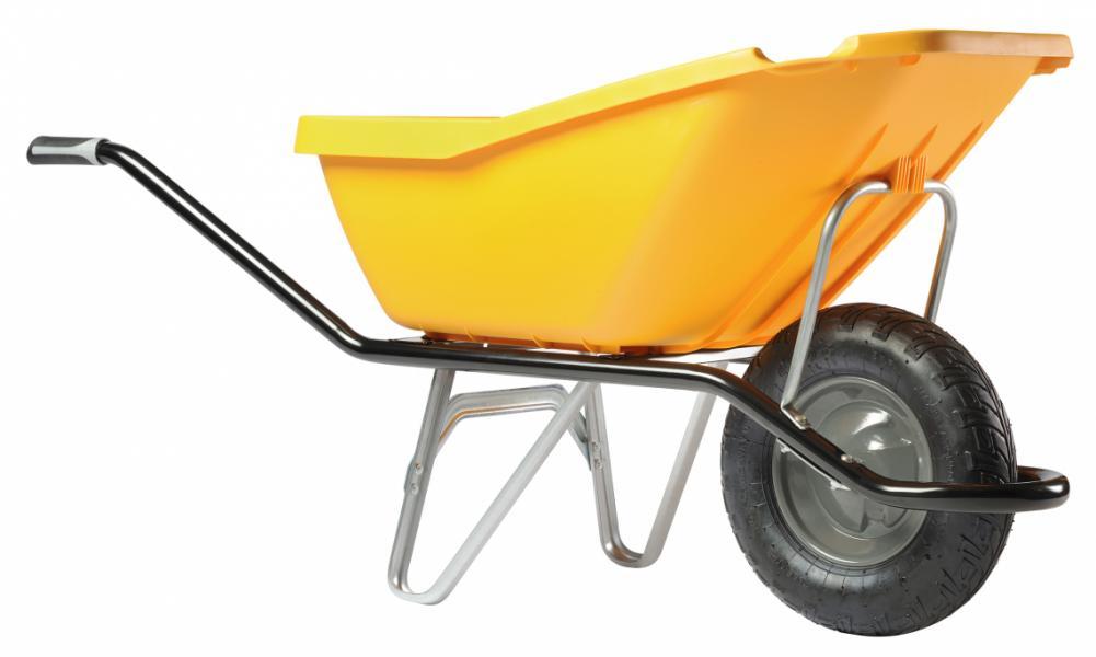 Тачка строительная одноколёсная Haemmerlin CARGO PICK UP 110 (жёлтая)