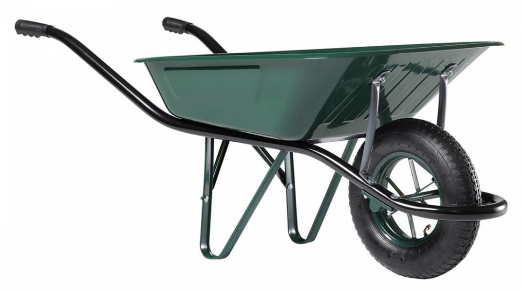 Тачка строительная одноколесная Haemmerlin CARGO MEDIUM 100 (крашеный кузов, пневм. колесо) 324007101/324007601