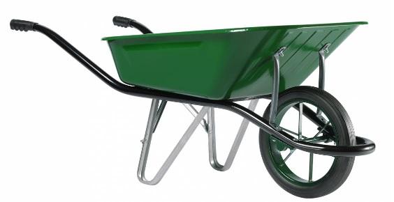 Тачка строительная одноколесная Haemmerlin CARGO MEDIUM 100 (крашеный кузов, литое колесо) 324007201/324007701