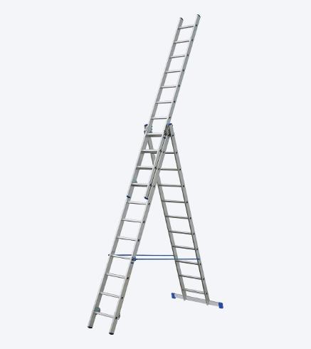 Трехсекционная алюминиевая лестница-стремянка ELKOP VHR 3x8 HK