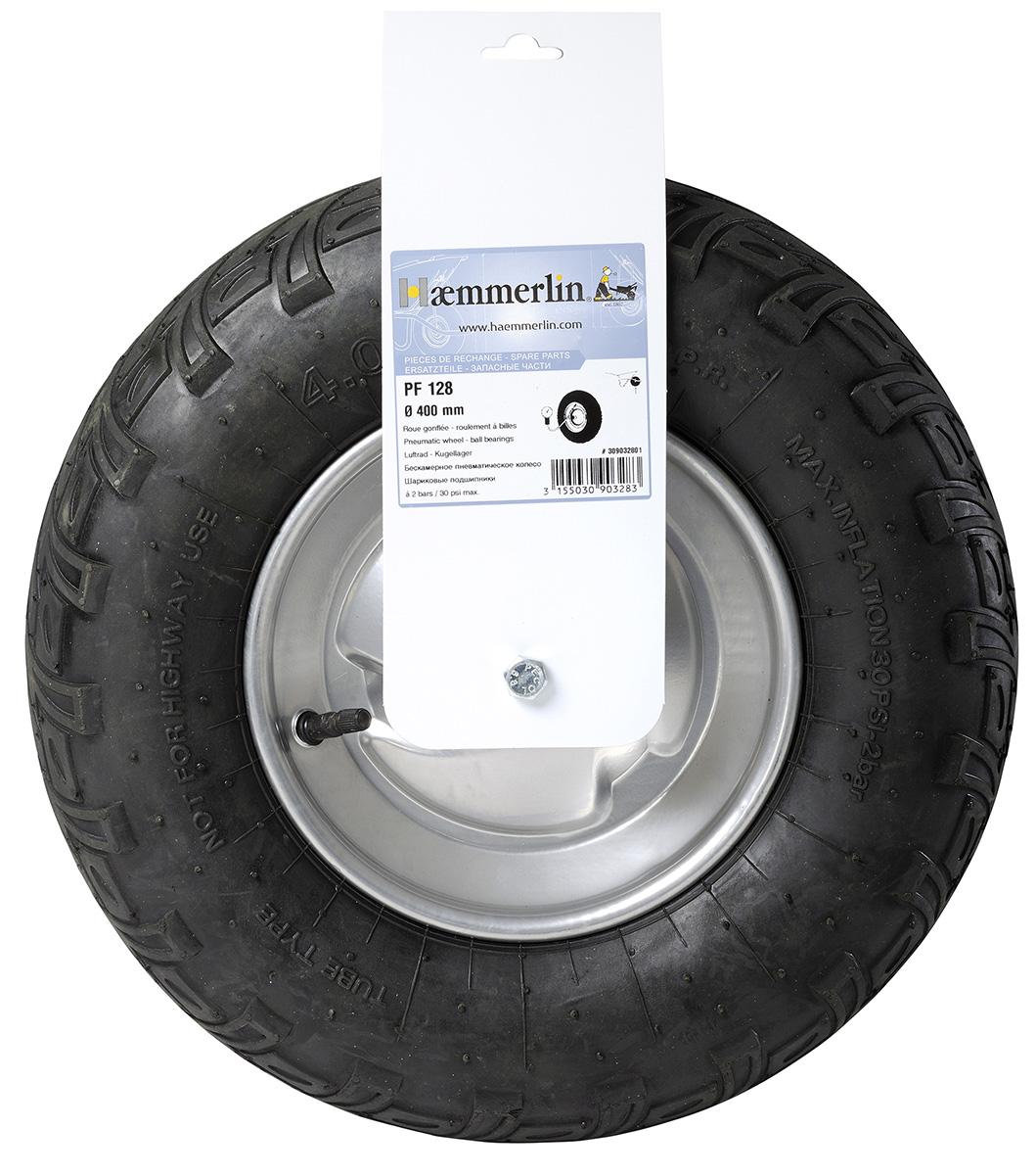 Колесо для тачки с подшипником Haemmerlin PF128 400 мм (309032801)