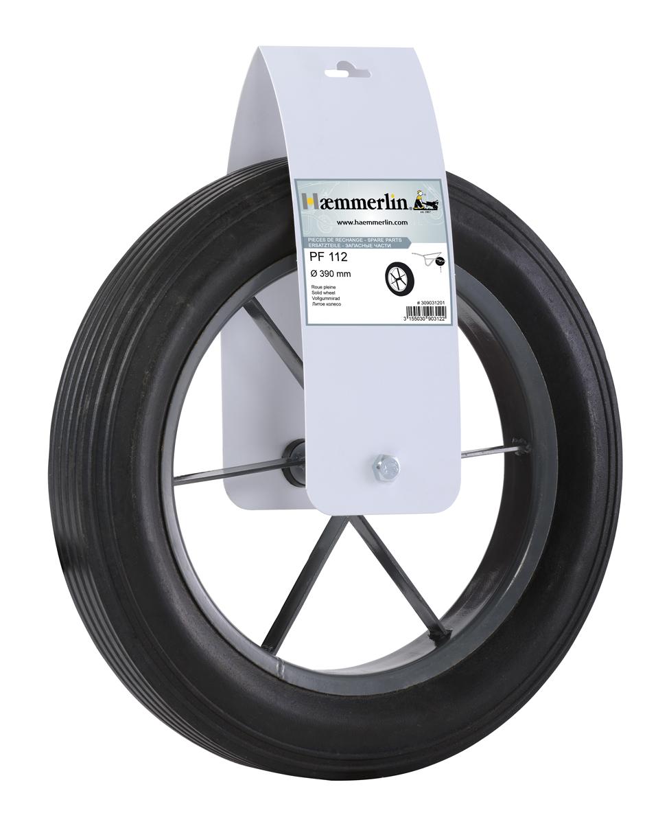 Колесо для тачки литое Haemmerlin PF112 390 мм (309031201)