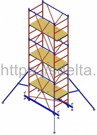 "Вышка-тура ""МЕГА 2М"", Н=18,3м (без стабилизатора)"
