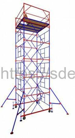 "Вышка-тура ""МЕГА 3"", Н-13,6 м ( без стабилизатора)"