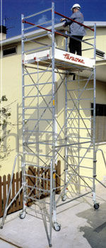 Вышка-тура алюминиевая FARAONE RAPIDO 180  7,97 м