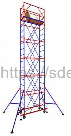 "Вышка-тура ""МЕГА 1"", Н=7,4м( без стабилизатора)"