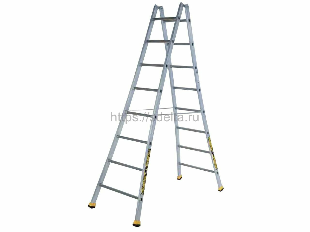 Двойная алюминиевая лестница-стремянка Н 2х14 Centaure Франция
