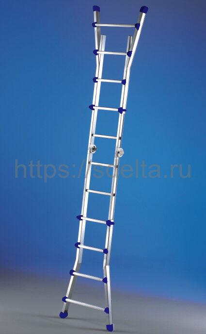 Лестница-стремянка телескопическая SVELT Scalissima PLUS 12+12