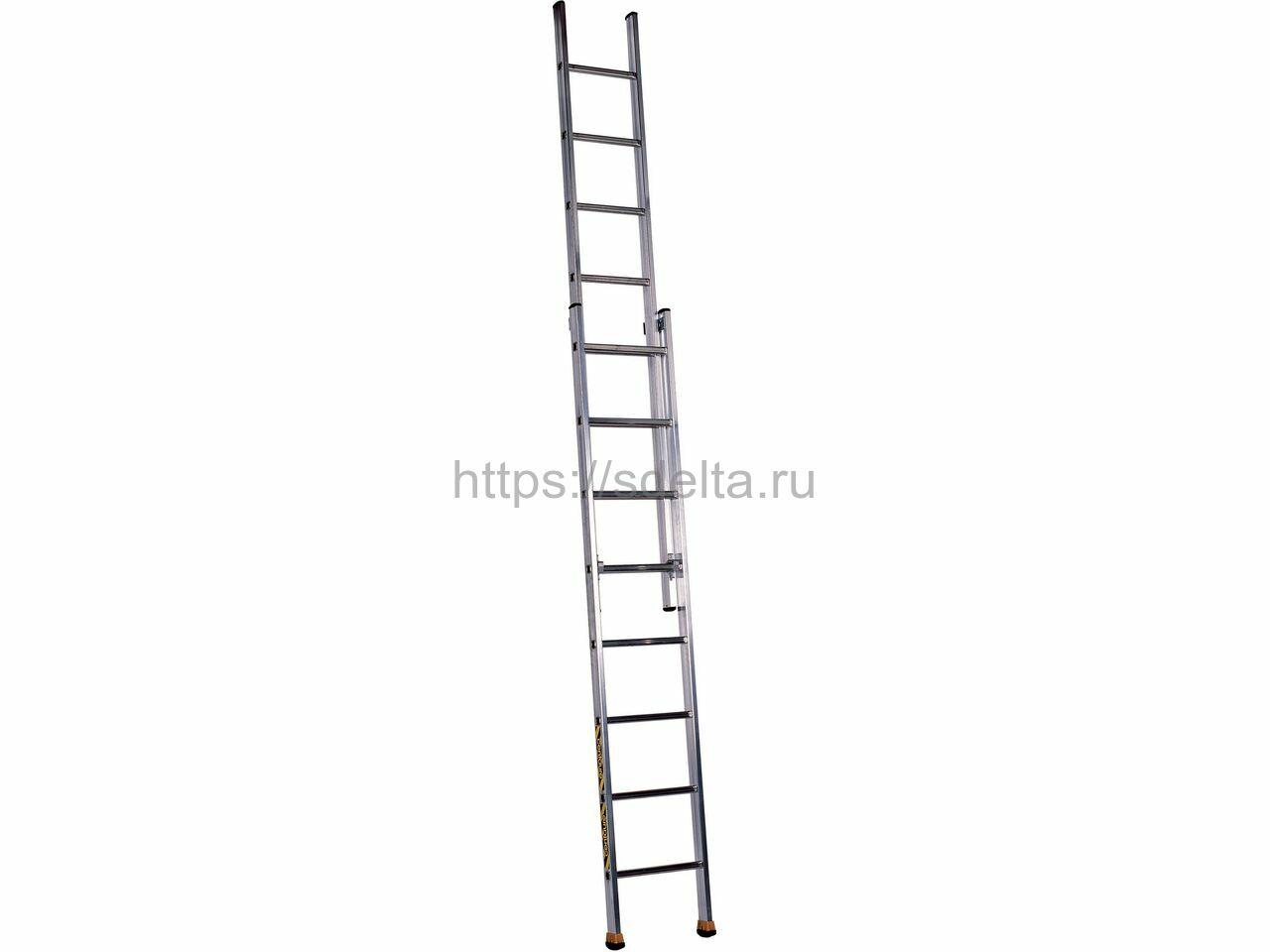 Двухсекционная выдвижная алюминиевая лестница CM2 2х6 Centaure Франция