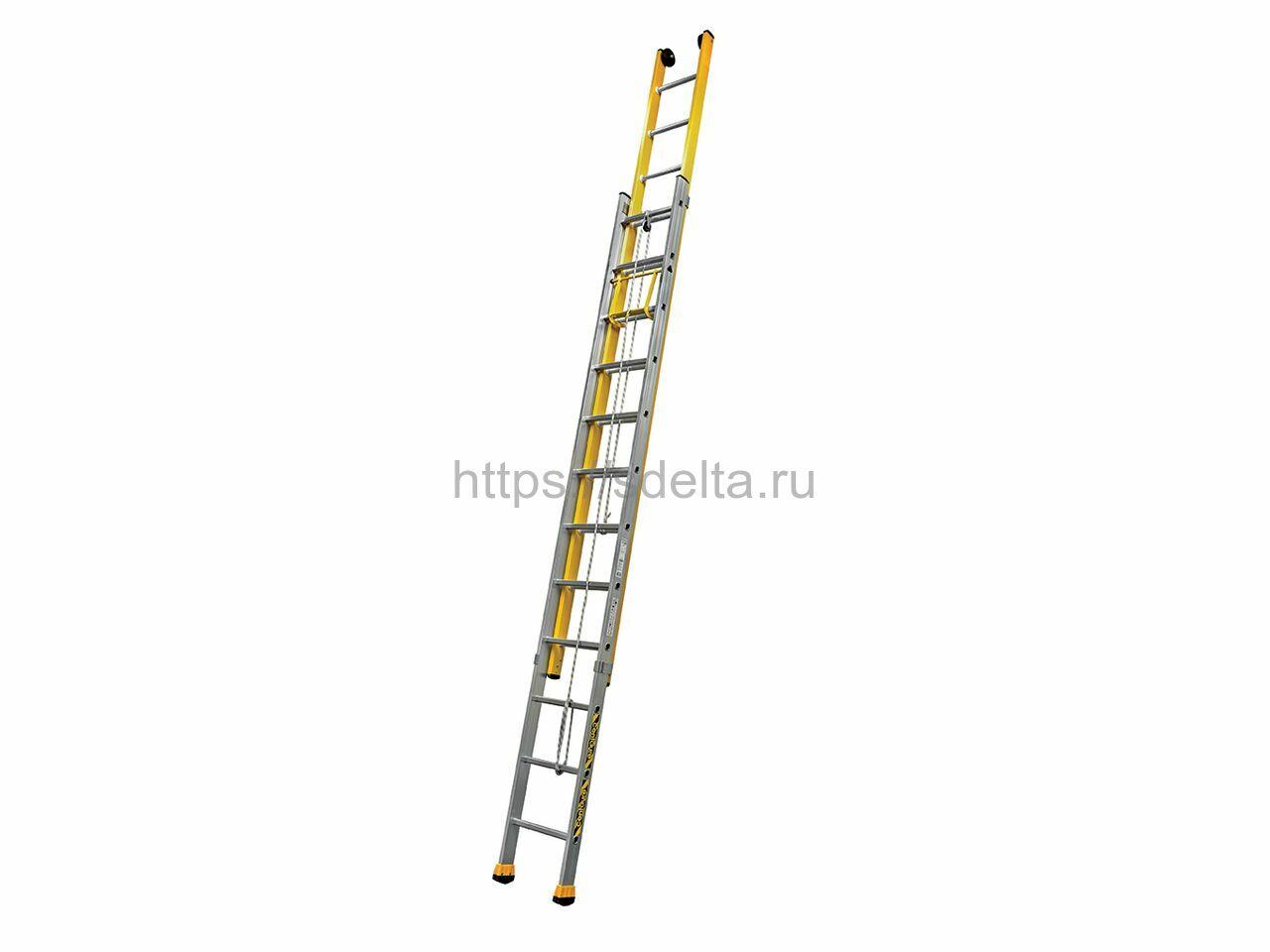 Диэлектрическая лестница C2 MIX 2х12 с тросом Centaure Франция