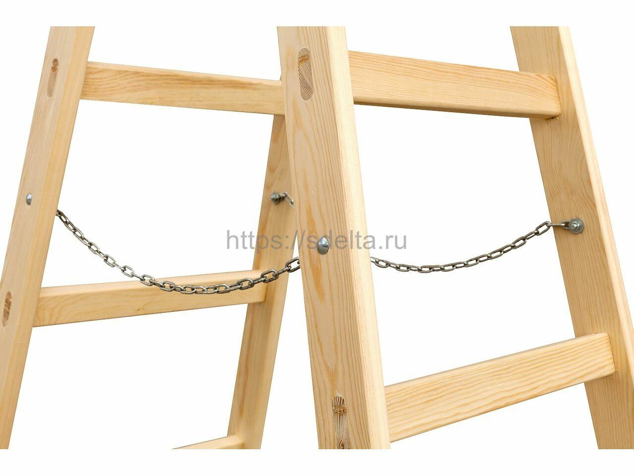 Деревянная стремянка Балчуг  2х7 Line