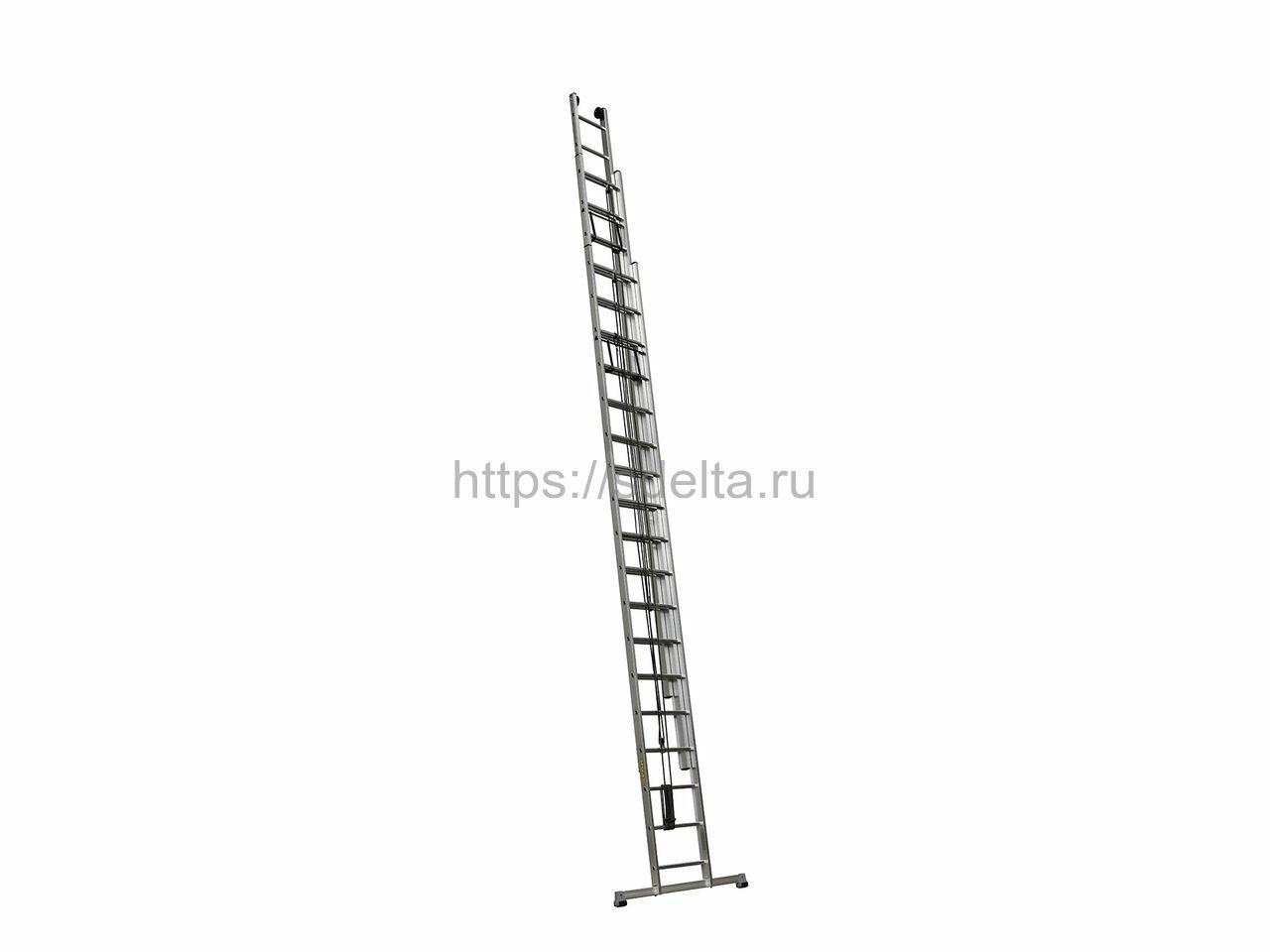 Лестница выдвижная трехсекционная алюминиевая Centaure PEC 3х15
