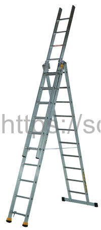 Трехсекционная алюминиевая лестница-стремянка Centaure AT3x14