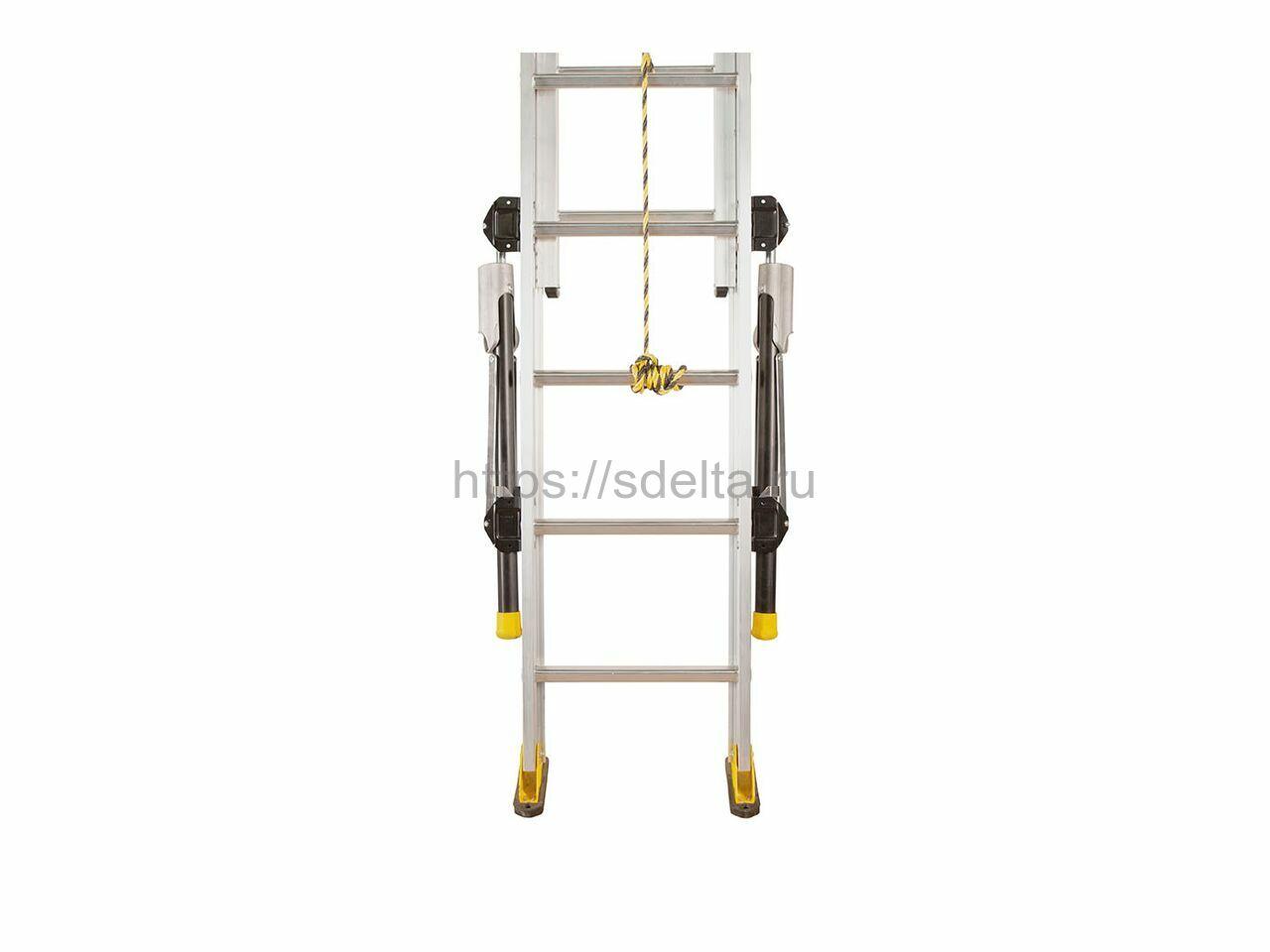 Трехсекционная алюминиевая выдвижная лестница Centaure C 3х17 с регулируемыми стабилизаторами