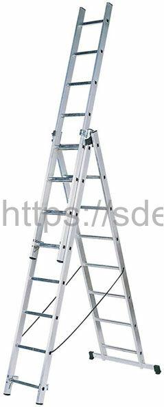 Трехсекционная алюминиевая лестница-стремянка Centaure WT 3x7