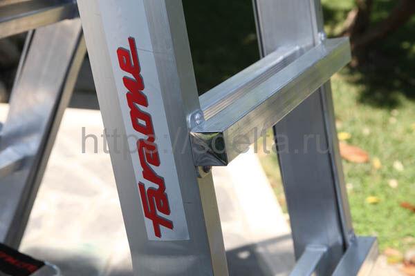 Лестница-стремянка телескопическая с поручнем 10+10 ступеней FARAONE TELES TT55