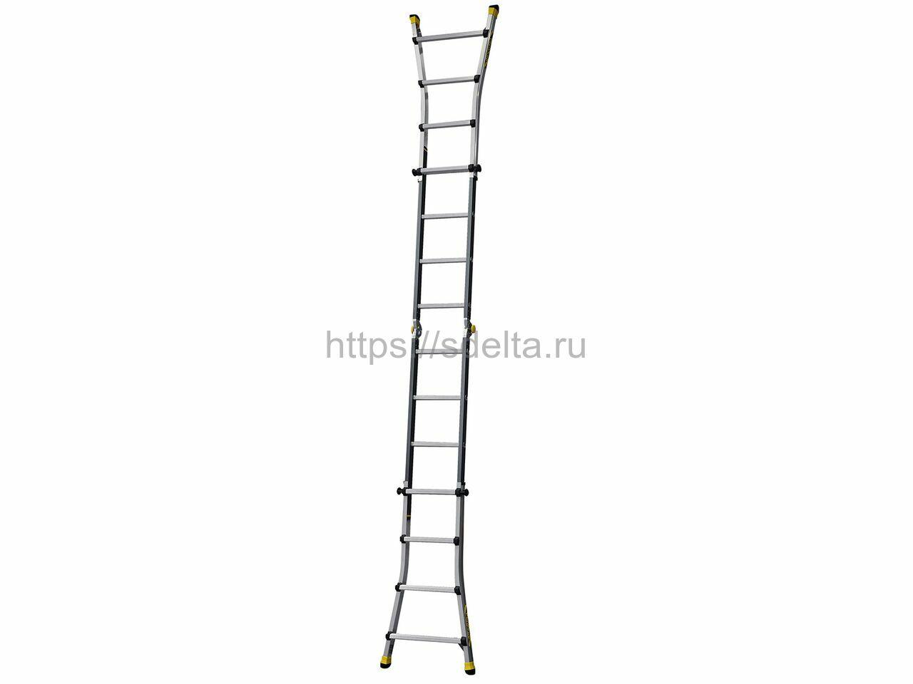 Лестница-стремянка телескопическая Centaure TT 4х4