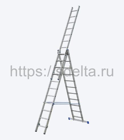 Трехсекционная алюминиевая лестница-стремянка ELKOP VHR 3x15 PK