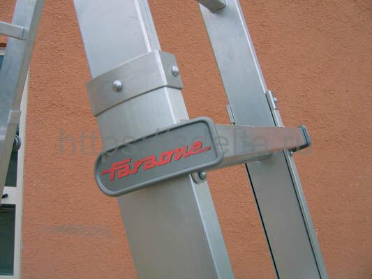 Лестница-стремянка телескопическая с поручнем 8+8 ступеней FARAONE TELES TT44
