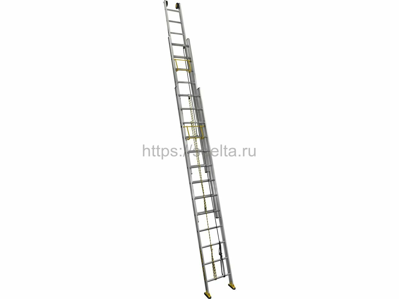 Трехсекционная алюминиевая выдвижная лестница Centaure C3 3х24 NEW
