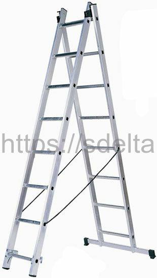 Двухсекционная алюминиевая лестница-стремянка Centaure WT 2x10