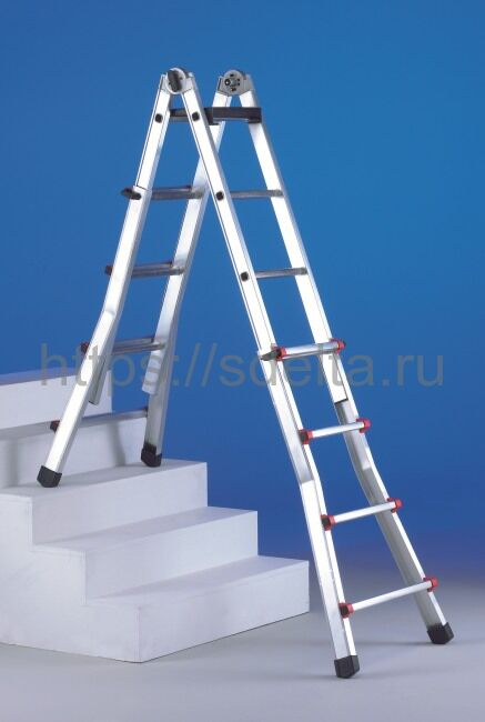 """Лестница-стремянка телескопическая SVELT Scalissima 10+10 """"R"""""""