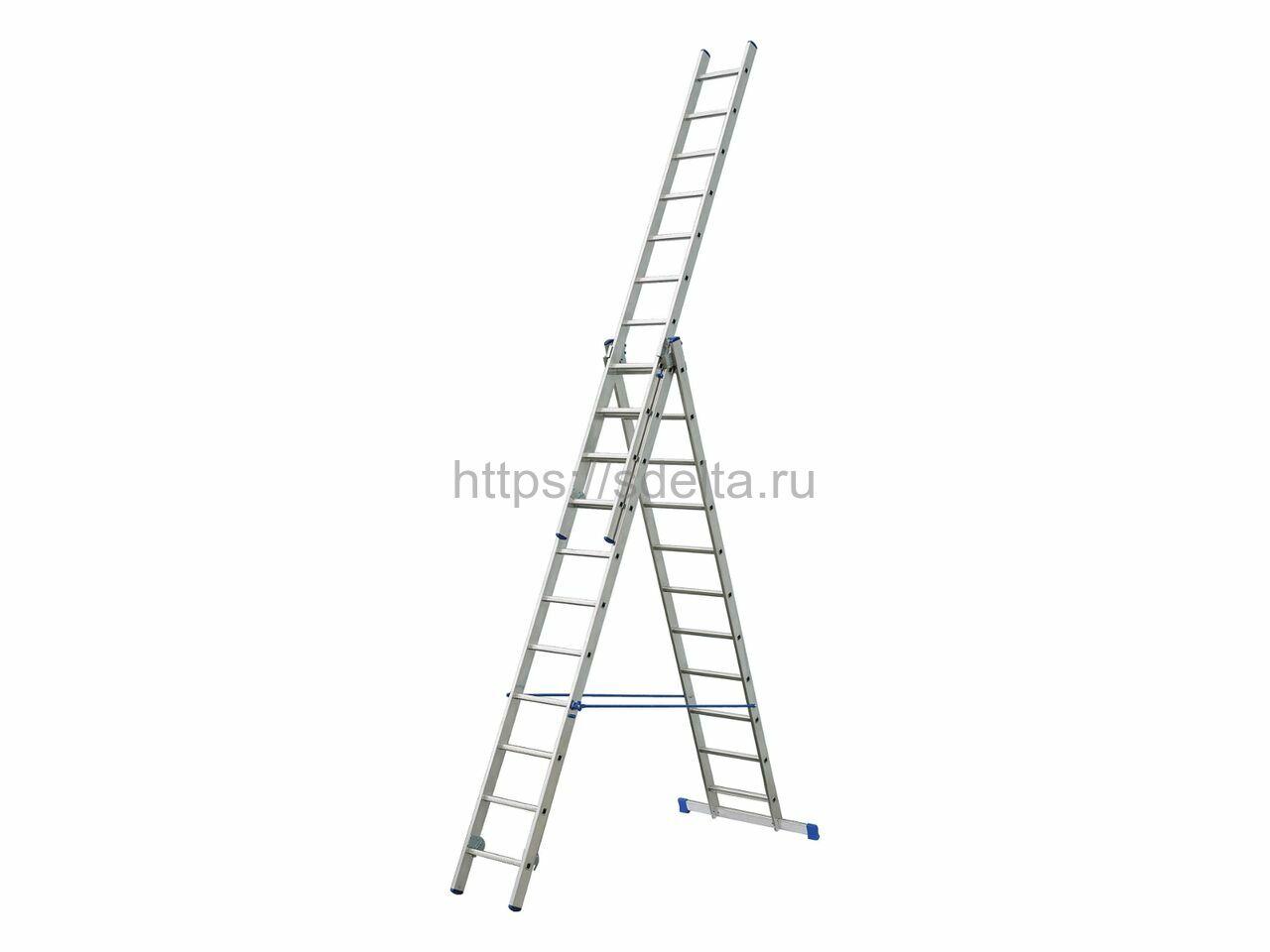 Трехсекционная алюминиевая лестница-стремянка ELKOP VHR 3x12 PK