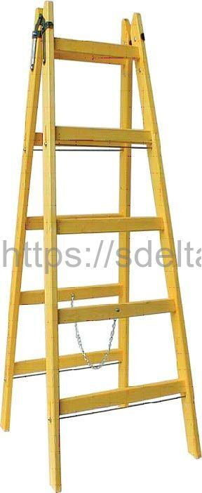 Стремянка диэлектрическая деревянная SD1-8 длинная